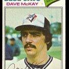 TORONTO BLUE JAYS DAVE McKAY 1977 TOPPS # 377 VG