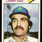 SEATTLE MARINERS LARRY COX 1977 TOPPS # 379