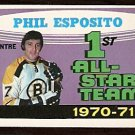 BOSTON BRUINS PHIL ESPOSITO ALL STAR 1971 OPC O PEE CHEE # 253 NR MT