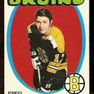 BOSTON BRUINS FRED STANFIELD 1971 TOPPS # 7 EX
