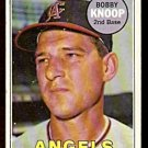 CALIFORNIA ANGELS BOBBY KNOOP 1969 TOPPS # 445 good