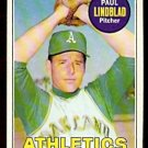 OAKLAND ATHLETICS PAUL LINDBLAD 1969 TOPPS # 449 EX/EM