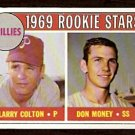 PHILADELPHIA PHILLIES ROOKIE STARS LARRY COLTON DON MONEY 1969 TOPPS # 454 NM