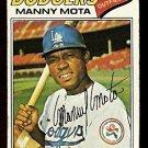 LOS ANGELES DODGERS MANNY MOTA 1977 TOPPS # 386 good