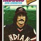 CLEVELAND INDIANS JOHN LOWENSTEIN 1977 TOPPS # 393 good