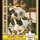 BOSTON BRUINS BOBBY ORR ALL STAR 1972 TOPPS # 122 NR MT