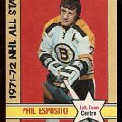 BOSTON BRUINS PHIL ESPOSITO ALL STAR 1972 OPC # 230 NM
