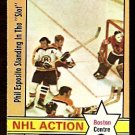 BOSTON BRUINS PHIL ESPOSITO IN THE SLOT  1972 OPC # 76  EM+