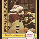 BOSTON BRUINS ED WESTFALL NEW YORK RANGERS WALT TKACZUK STANLEY CUP GAME 4 1972 OPC # 38 NR MT