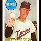 MINNESOTA TWINS DAVE BOSWELL 1969 TOPPS # 459 EX/EM