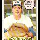 MONTREAL EXPOS JOHN BOCCABELLA 1969 TOPPS # 466 VG