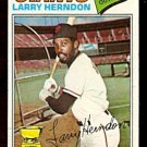 SAN FRANCISCO GIANTS LARRY HERNDON ROOKIE CARD RC 1977 TOPPS # 397 fair/good