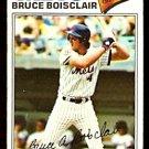 NEW YORK METS BRUCE BOISCLAIR 1977 TOPPS # 399 VG