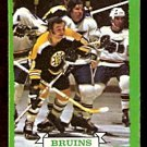 BOSTON BRUINS KEN HODGE 1973 TOPPS # 133 EM/NM