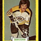 BOSTON BRUINS CAROL VADNAIS 1973 TOPPS # 58 NR MT