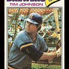 MILWAUKEE BREWERS TIM JOHNSON 1977 TOPPS # 406 VG/EX