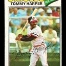 BALTIMORE ORIOLES TOMMY HARPER 1977 TOPPS # 414 VG