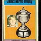 BOSTON BRUINS BOBBY ORR NORRIS TROPHY 1974 TOPPS # 248 EM/NM