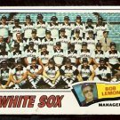 CHICAGO WHITE SOX TEAM CARD 1977 TOPPS # 418 VG unmarked check list
