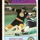 BOSTON BRUINS BOBBY ORR ALL STAR 1975 TOPPS # 288 NR MT