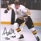 BOSTON BRUINS TERRY O'REILLY AUTOGRAPHED PHOTO WITH COA