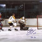 BOSTON BRUINS JOHN ADAMS AUTOGRAPHED PHOTO WITH COA
