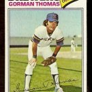 MILWAUKEE BREWERS GORMAN THOMAS 1977 TOPPS # 439