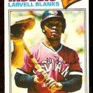 CLEVELAND INDIANS LARVELL BLANKS 1977 TOPPS # 441 VG