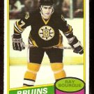 BOSTON BRUINS RAY BOURQUE ROOKIE CARD RC 1980 OPC # 140 NM O PEE CHEE