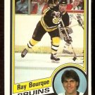 BOSTON BRUINS RAY BOURQUE 1984 OPC # 1 NR MT O PEE CHEE