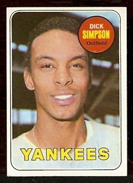 NEW YORK YANKEES DICK SIMPSON 1969 TOPPS # 608 EX MT