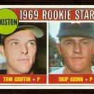 HOUSTON ASTROS ROOKIE STARS TOM GRIFFIN SKIP GUINN 1969 TOPPS # 614 EM