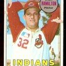 CLEVELAND INDIANS JACK HAMILTON 1969 TOPPS # 629 poor/fair