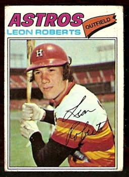 HOUSTON ASTROS LEON ROBERTS 1977 TOPPS # 456 good+