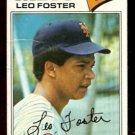 NEW YORK METS LEO FOSTER 1977 TOPPS # 458 good