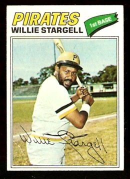 PITTSBURGH PIRATES WILLIE STARGELL 1977 TOPPS # 460 VG