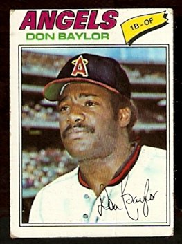 CALIFORNIA ANGELS DON BAYLOR 1977 TOPPS # 462 VG
