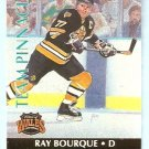 BOSTON BRUINS RAY BOURQUE CHICAGO BLACK HAWKS CHRIS CHELIOS 1992 TEAM PINNACLE INSERT #2 of 6