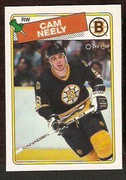 BOSTON BRUINS CAM NEELY 1988 OPC # 58 NR MT O PEE CHEE