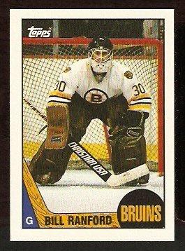 BOSTON BRUINS BILL RANFORD ROOKIE CARD RC 1987 TOPPS # 13 NR MT