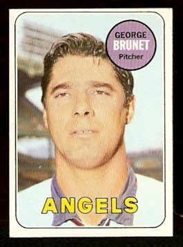 CALIFORNIA ANGELS GEORGE BRUNET 1969 TOPPS # 645 EX