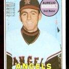 CALIFORNIA ANGELS AURELIO RODRIGUEZ 1969 TOPPS # 653 EX+/EM