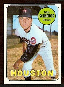 HOUSTON ASTROS DAN SCHNEIDER 1969 TOPPS # 656 NM