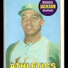 OAKLAND ATHLETICS REGGIE JACKSON ROOKIE CARD RC 1969 TOPPS # 260 EX MT