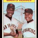 SAN FRANCISCO GIANTS HEROES WILLIE McCOVEY JUAN MARICHAL 1969 TOPPS # 572 NM