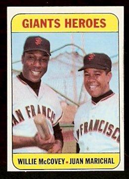 SAN FRANCISCO GIANTS HEROES WILLIE McCOVEY JUAN MARICHAL 1969 TOPPS # 572 NM