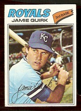 KANSAS CITY ROYALS JAIMIE QUIRK 1977 TOPPS # 463 VG