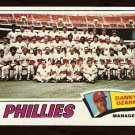 PHILADELPHIA PHILLIES TEAM CARD 1977 TOPPS # 467 good unmarked checklist