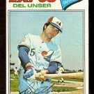 MONTREAL EXPOS DEL UNSER 1977 TOPPS # 471 VG