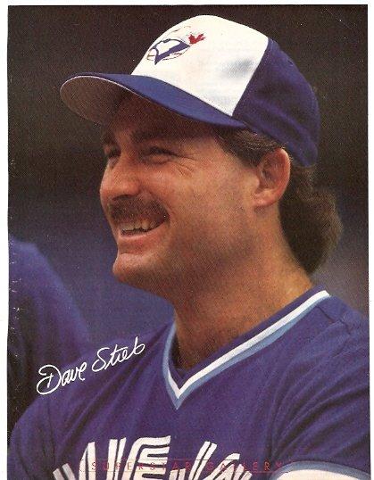 TORONTO BLUE JAYS DAVE STIEB 1990 PINUP PHOTO